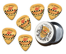 Joes Diner Martin Wiscombe 6 X Guitar Picks In Tin Vintage Retro