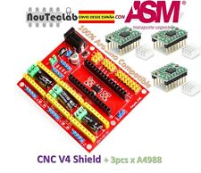 CNC Shield V4 Expansion Board + 3pcs A4988 Stepper Motor Driver