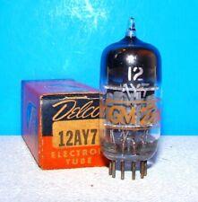 12AY7 NOS radio GE Delco vintage amplifier audio vacuum tube valve tested 12AY7