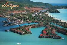 Aerial View of Jolly Harbor, Antigua, West Indies, Caribbean, Marina -- Postcard