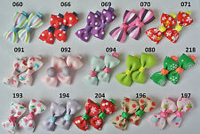 99p for 2  SALE baby/girls hair slides ,UK stock, alligator clips bows