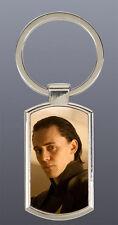 Tom Hiddleston Loki Thor the dark world Avengers Rectangle metal keyring D1