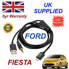 For Ford Fiesta Samsung HTC & LG Sony Nokia Micro USB & 3.5mm Aux Audio Cable Bl