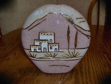 Pottery Vase...Pueblo with Porcelain & 24kt trim..Fabu!