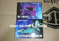 Transformers KFC CST-03 B-BOX & CST-04 BIRDBOMBER Masterpiece Cassette in stock