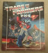 Rare Transformers Sticker Album Panini 1986 - fully completed with all stickers