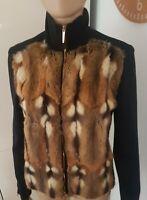 Tom Ford Gucci Runway 2000 Amster Fur Cardigan Jacket Sz M. Limited Edition Rare