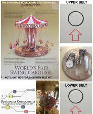 Mr. Christmas World's Fair Swing Carousel -2 Belts Repair kit. MODEL#79841