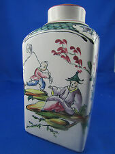 ancien flacon en faience de marseille veuve perrin decor au chinois epoque 1900