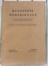 Questioni Meridionali - studi economici confederazione fascista - 1936 III 1