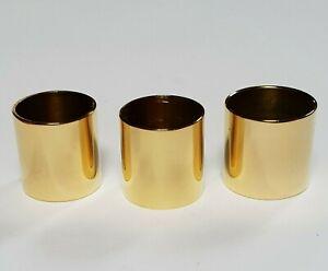 3 x mixed PLAIN BRASS COLLARS 22mm 23mm & 24mm diameter for Walking Stick Making