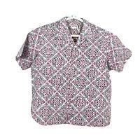 Cooke Street Made in Hawaii Mens XXL Button Up Hawaiian Shirt Floral Cotton