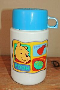 L@@K VINTAGE 1990'S DISNEY WINNIE THE POOH THERMOS BRAND LUNCH BOX DRINKING CUP