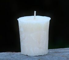 8pk Luxurious Australian WHITE FLANNEL FLOWERS Scented 160hr/pk VOTIVE CANDLES
