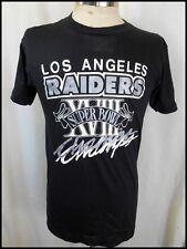 Vintage 1984 Black Poly/Cotton L.A. Raiders Superbowl Champs T-shirt M LIKE NEW!