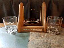 Glenlivet bottle stand and 2 Bar Glasses