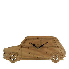 Mini Cooper Side View Wooden Wall Clock - Made in Cornwall - WC.W.MIS01