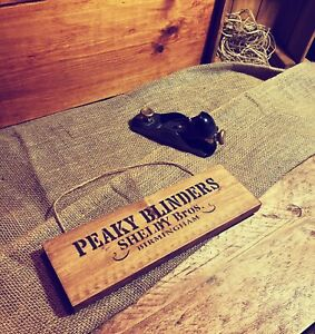 "Peaky Blinders Wooden ""Peaky Blinders"" Sign Hand Crafted"