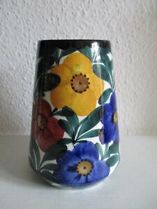 Vase 20 cm Schramberger Majolika Schramberg 2820 Blumen alt