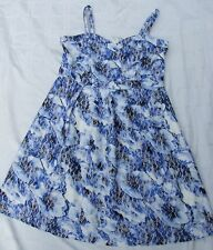 CITY CHIC DRESS SIZE XS BNWT $119 MESH O/LAY FLORAL BLUE BLOOM PLEATS