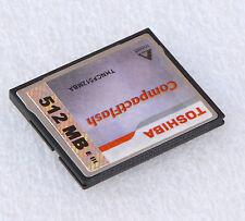 512 MB TOSHIBA KOMPAKT COMPACT FLASH CF-CARD SPEICHERKARTE 512MB THNCF512MBA #18