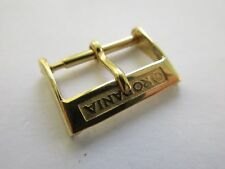 Rodania vintage 60's swiss watch strap buckle 16 mm yellow plated