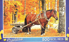 Puzzlebug 500 Piece Jigsaw Puzzle ~ Horse and Cart in a Golden Autumn Forest