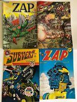 Zap Comix lot Last Gasp Robert Crumb Subvert comics #3 Spain Wilson Shelton