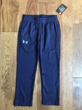 Under Armour Athletic Waffle Weave Mesh Sweat Pants Navy Blue Boys 4 *NEW*