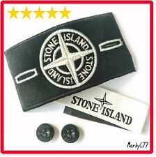 GENUINE STONE ISLAND BADGE, WHITE GLOW SPECIAL BUTTONS LABEL JUMPER JACKET DRAKE