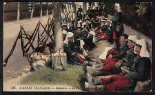 Cpa Guerre l'Armée Française - Infanterie la Halte Horaire
