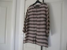 Ladies Cardigan /Jacket Design Stitches Australia Size 18 Brown & Fawn Linen