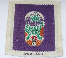 vietnam american war vintage  woven  1st batl  ARVN parachute forces patch
