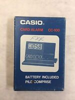 CASIO CARD ALARM CC-100 BRAND NEW IN BOX VINTAGE RARE MADE IN JAPAN!