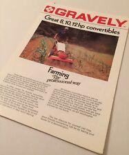 GRAVELY Great 8 10 12 Convertible Tractors Rotavators Original 1974 Brochure