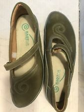 NAOT Women's MATAI Green Leather & Suede MARY JANE Size 42 BNNB $180