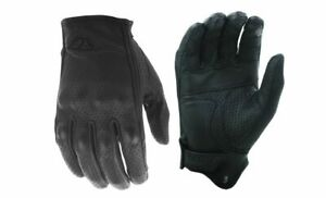 Fly Racing Thrust Black Leather Mens Motorcycle Riding Street Racing Gloves