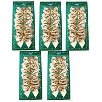 30Kleine Schleifen gold Weihnachten Weihnachtsschleifen Schleife Christbaum7,5cm