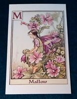 CICELY MARY BARKER FLOWER FAIRIES POSTCARD, THE MALLOW FAIRY, FAIRY ALPHABET