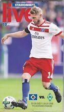 HSV-Stadionheft Nr.4 zum Heimspiel gegen Werder Bremen vom 30.9.2017