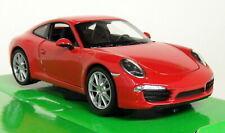 Nex Models 1/24-27 Scale - Porsche 911 991 Carrera S Red Diecast model car