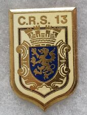 Insigne Badge POLICE Obsolète CRS 13 ancien Delsart ORIGINAL FRANCE