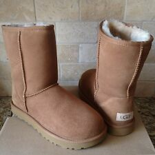 UGG Classic Short II Chestnut Water-resistant Suede Boots Size US 9 Womens
