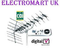 48 ELEMENT HIGH GAIN DIGITAL FREEVIEW TV AERIAL KIT BUILT IN 4G FILTER