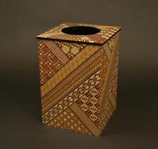 Yosegi zaiku Garbage can traditional Japan parquetry hakone wood