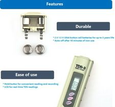 TDS Meter Tester Water Quality Digital Pen Replacement RO Carbon Pitcher Filter
