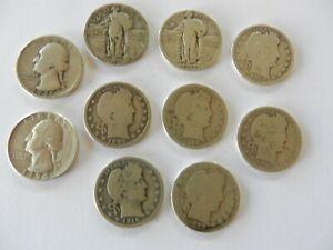 Ten (10) Silver Quarters