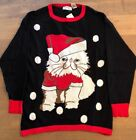 NWT Isabella's Closet Women's Disgruntled Cat Ugly Christmas Sweater Extra Large