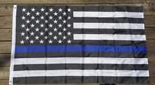 Thin Blue Line Flag 3'x5' Memorial Law Enforcement Blue Lives Matter