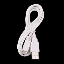 WHITE 1m USB Male A to B Mini USB Cable Lead - Phone PC PS3 Controller PSP